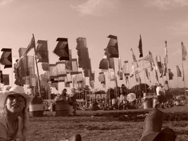 Glastonbury 2005 flags